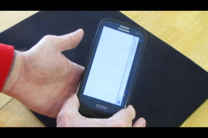 Once scanned, it will detect the card that has the matching fingerprint
