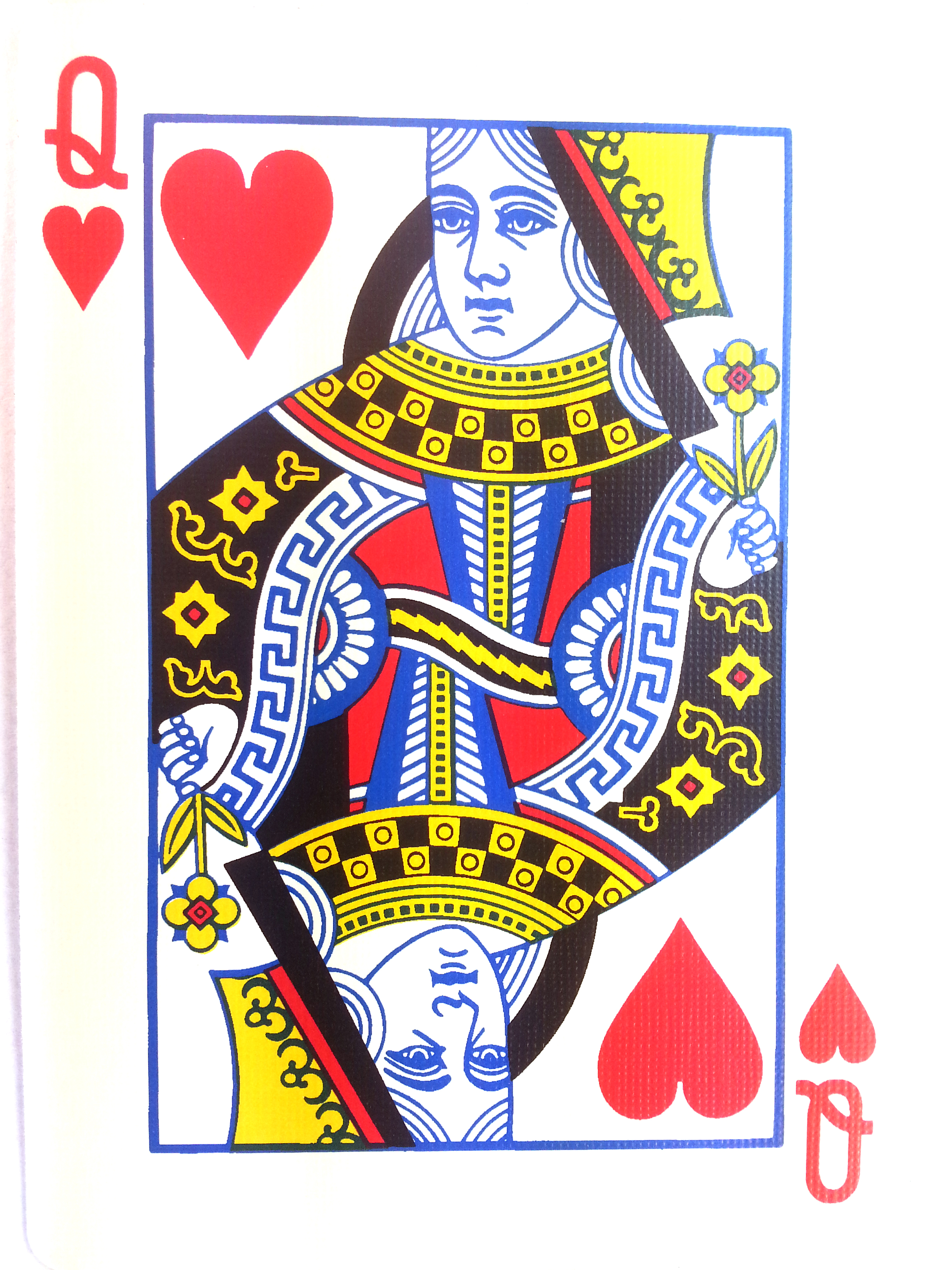 Queen Of Hearts Playing Card Top queen of hearts card tattoo images ...