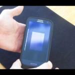 Work the scanner up over the fingerprint